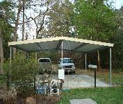 Gabled Free Standing Carport Houston TX