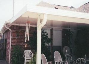 Insulated aluminum Patio Cover with Down Spout